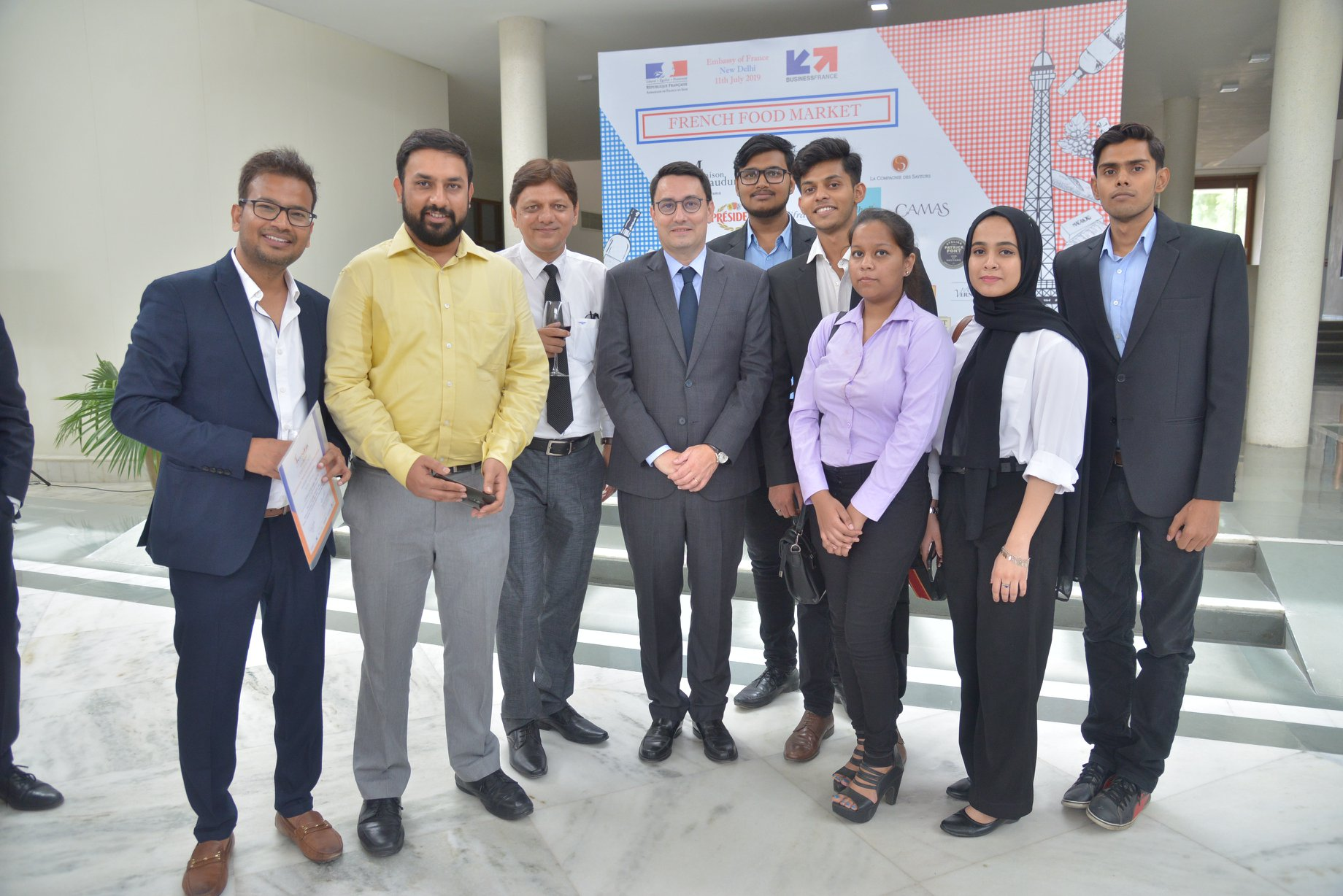 Amity University – 5 weeks study abroad program felicitated by Ambassador of France at French Embassy