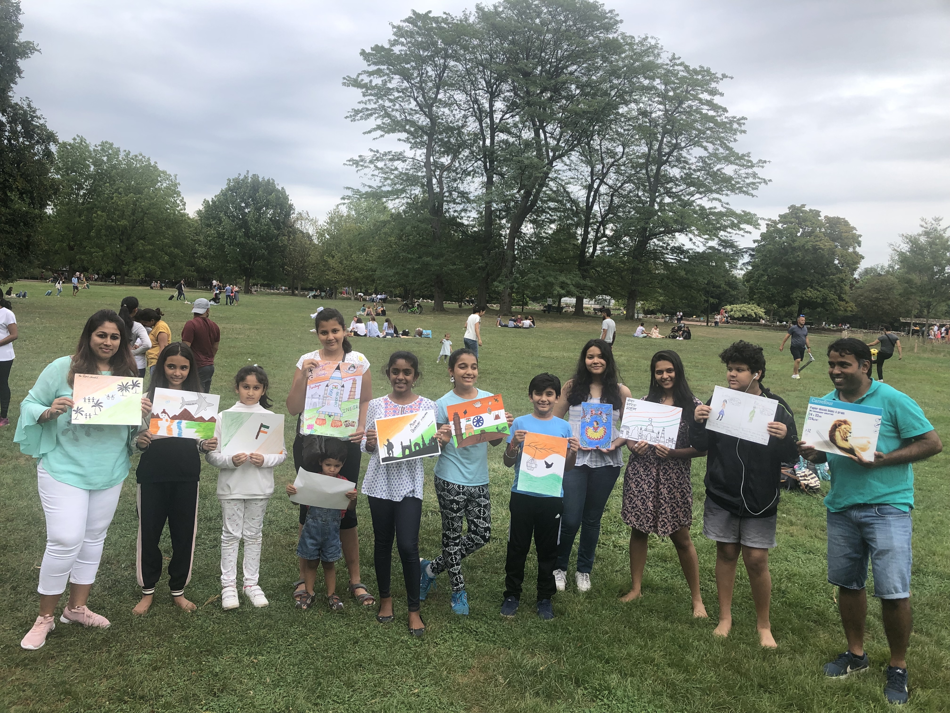"""Painting workshop on """"My wonderful India"""" in Lyon"""